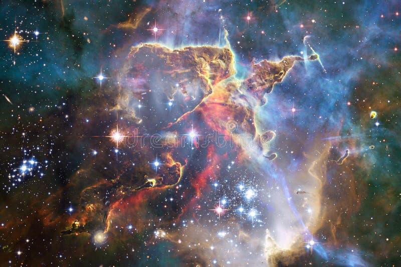 Galax någonstans i yttre rymd Beståndsdelar av denna avbildar möblerat av NASA vektor illustrationer
