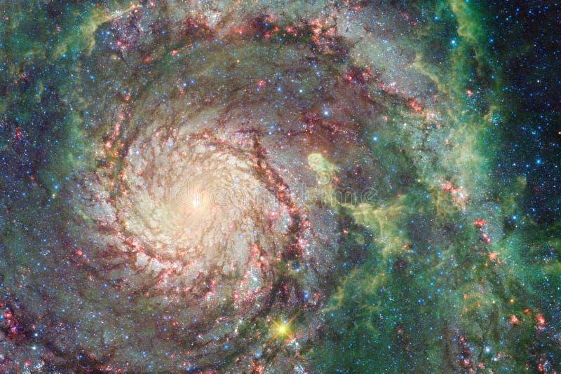 Galax någonstans i yttre rymd Beståndsdelar av denna avbildar möblerat av NASA royaltyfri fotografi