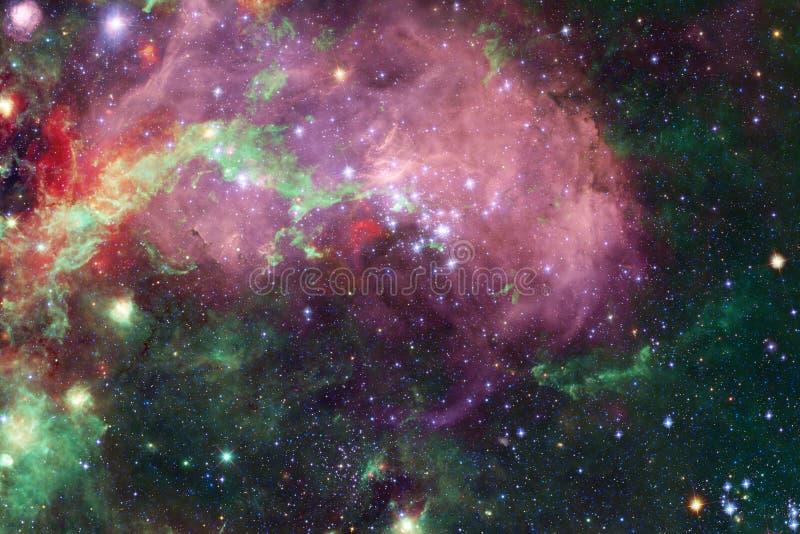 Galax någonstans i yttre rymd Beståndsdelar av denna avbildar möblerat av NASA stock illustrationer