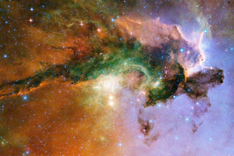 Galax n?gonstans i yttre rymd Best?ndsdelar av denna avbildar m?blerat av NASA royaltyfri fotografi