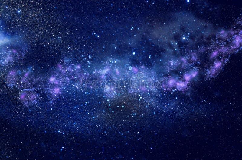 Galax och nebula Stjärnklar yttre rymdbakgrundstextur royaltyfria foton