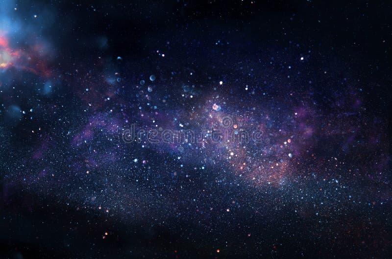 Galax och nebula Stjärnklar yttre rymdbakgrundstextur arkivfoto