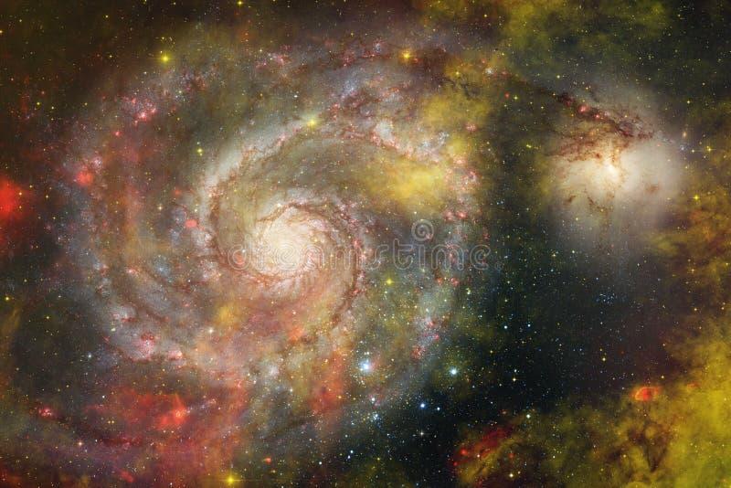 Galax starfield, nebulosor, klunga av stjärnor i djupt utrymme Sciencekonst arkivfoto