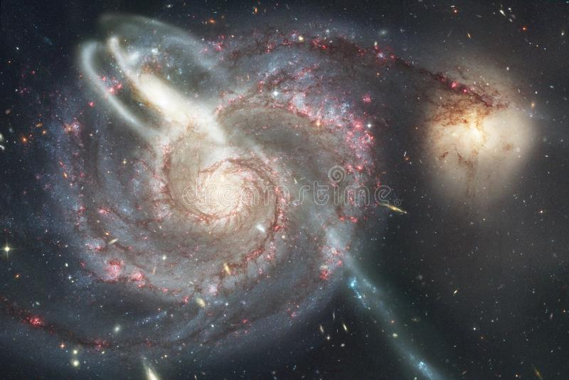 Galax starfield, nebulosor, klunga av stjärnor i djupt utrymme Sciencekonst royaltyfria foton