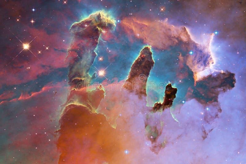 Galax starfield, nebulosor, klunga av stjärnor i djupt utrymme Sciencekonst royaltyfri bild