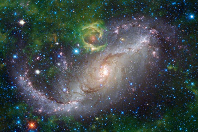 Galax starfield, nebulosor, klunga av stjärnor i djupt utrymme Sciencekonst arkivfoton