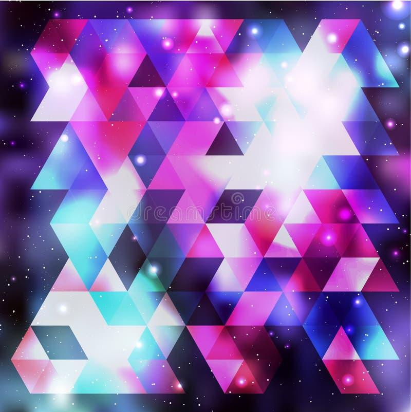 Galaxbakgrund vektor för semester för färgrik begreppsillustration avslappnande vektor illustrationer