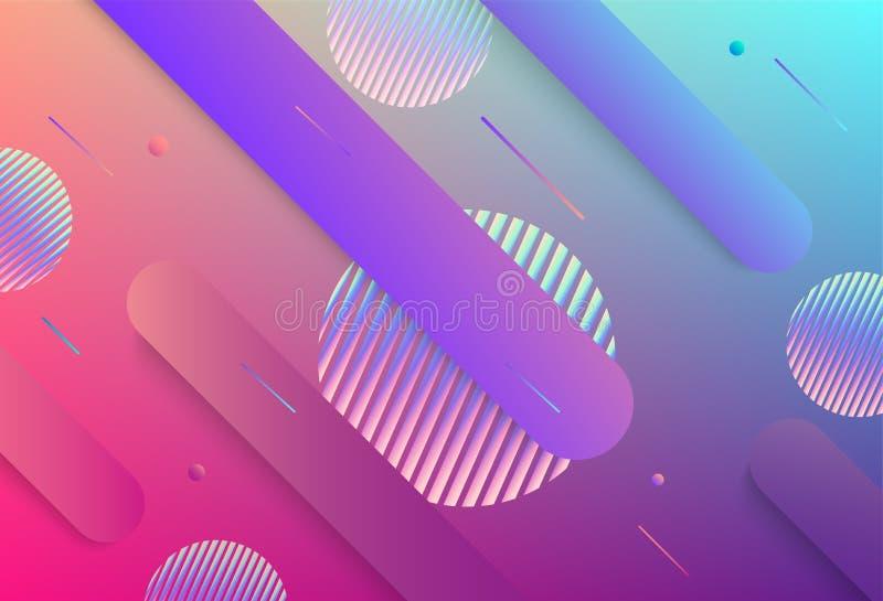Galaxfantasibakgrund och pastellfärgad färg färgrikt geometriskt för bakgrund Dynamisk formsammansättning royaltyfri illustrationer