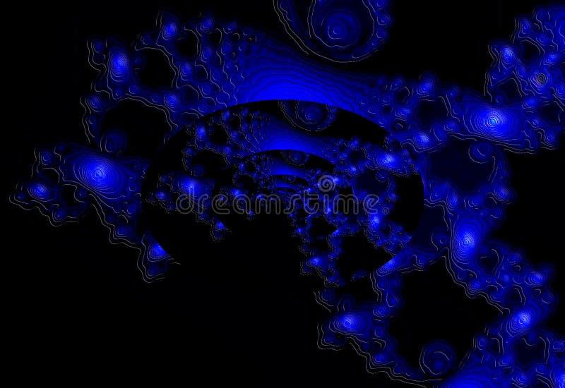Galaxia azul fotografía de archivo libre de regalías