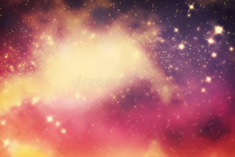 Galaxia con las estrellas y el espacio del universo de la fantasía stock de ilustración