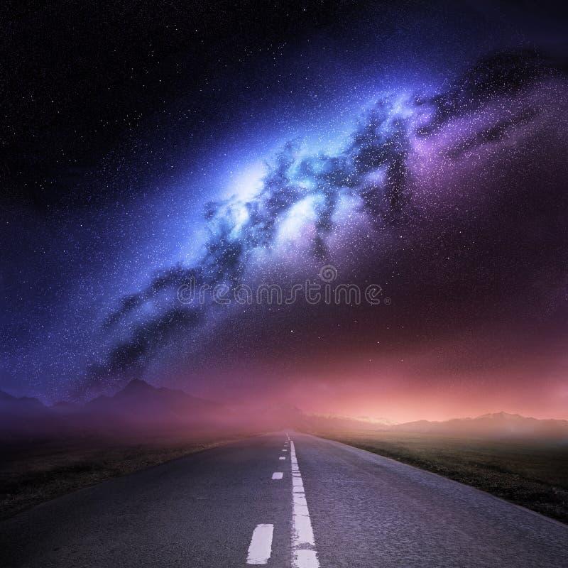 Galaxia de la manera lechosa de la tierra stock de ilustración