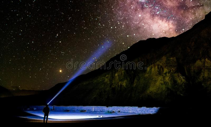 Galaxia de la vía láctea foto de archivo libre de regalías