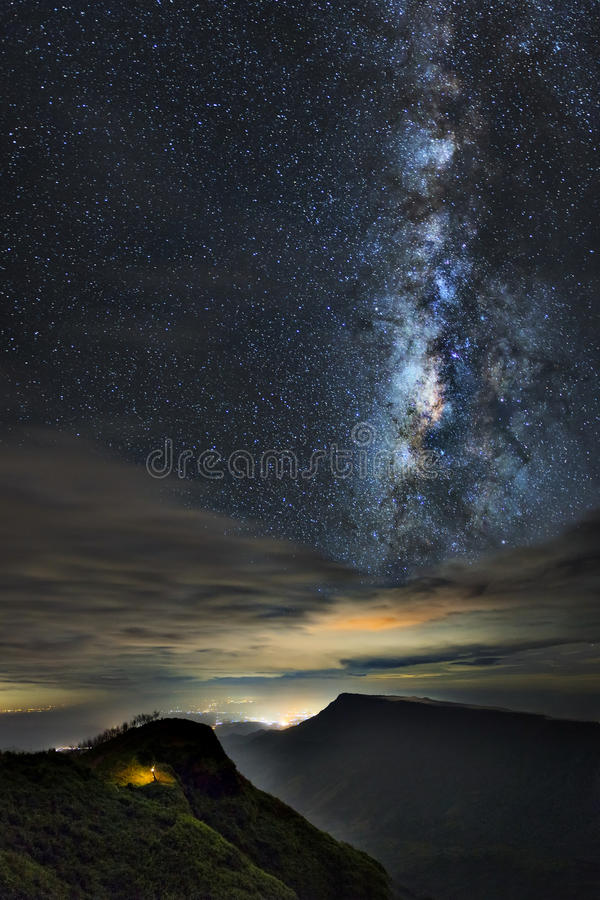 Galaxia de la vía láctea fotografía de archivo libre de regalías