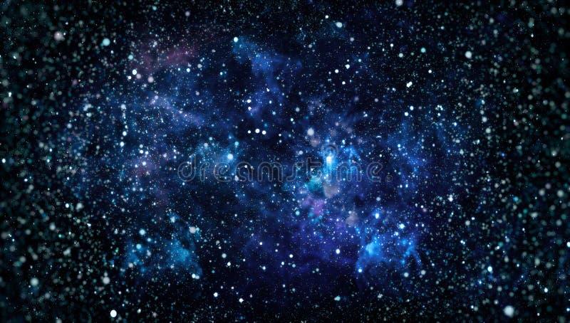 Galaxia de la vía láctea con las estrellas y el espacio Nueva mirada panorámica grande en espacio profundo Cielo nocturno oscuro  libre illustration