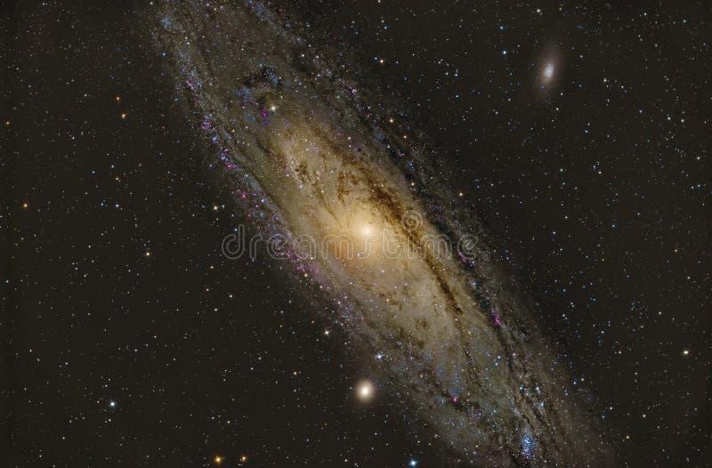 Galaxia del Andromeda M31 foto de archivo