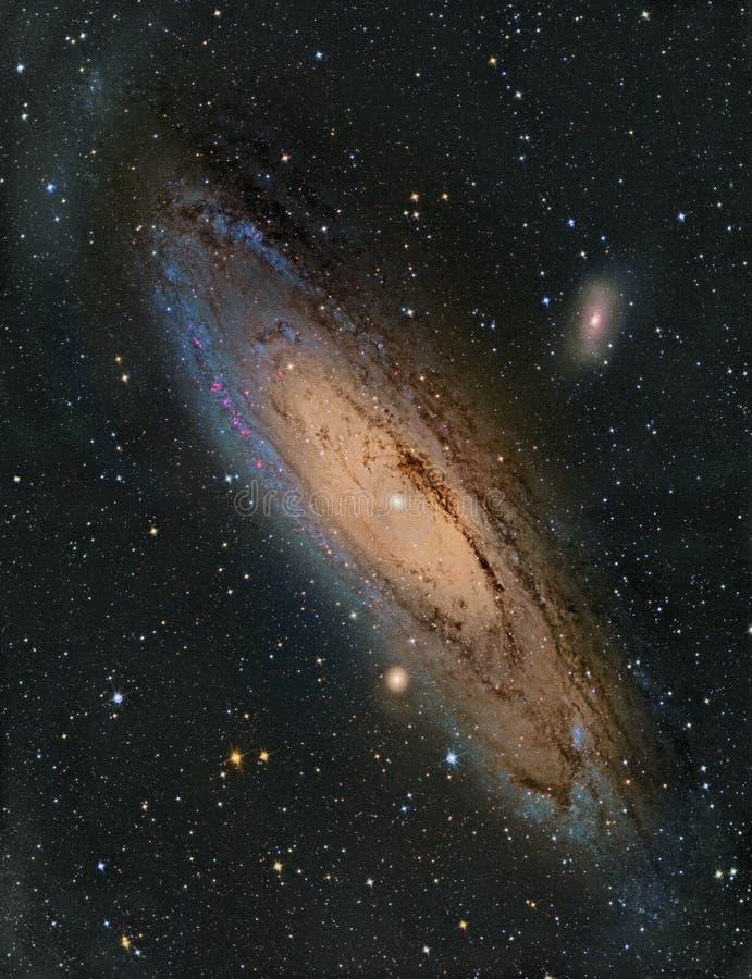 Galaxia del Andromeda M31 foto de archivo libre de regalías