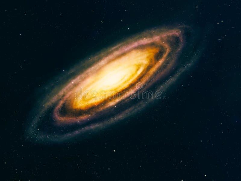 Galaxia del espacio profundo ilustración del vector