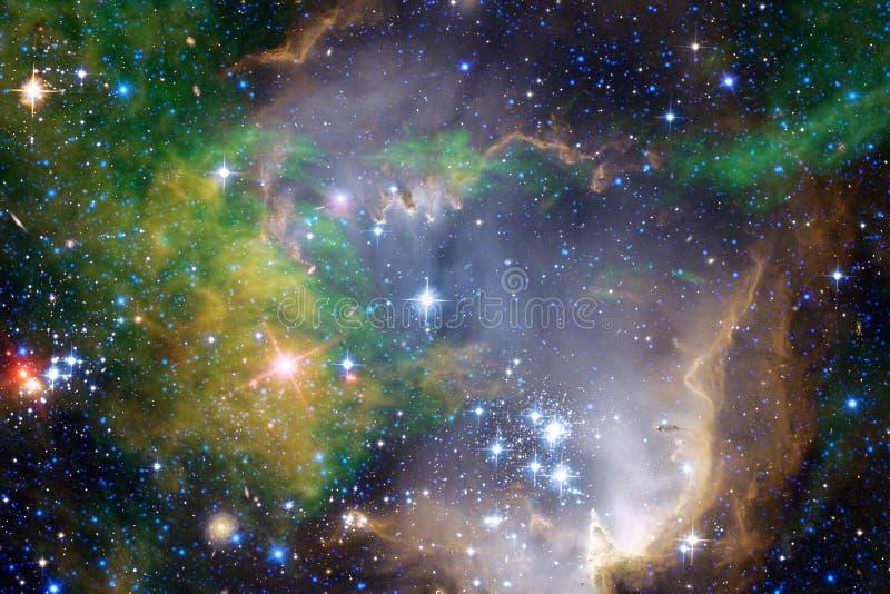 Galaxia en alguna parte en espacio exterior Elementos de esta imagen equipados por la NASA stock de ilustración