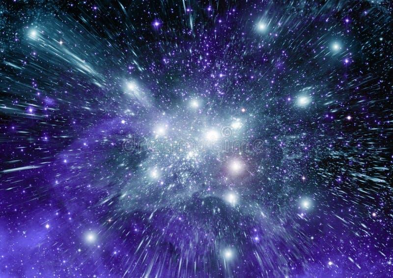 Galaxia en un espacio libre ilustración del vector