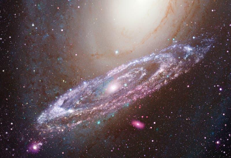 Galaxia espiral brillante en espacio profundo ilustración del vector