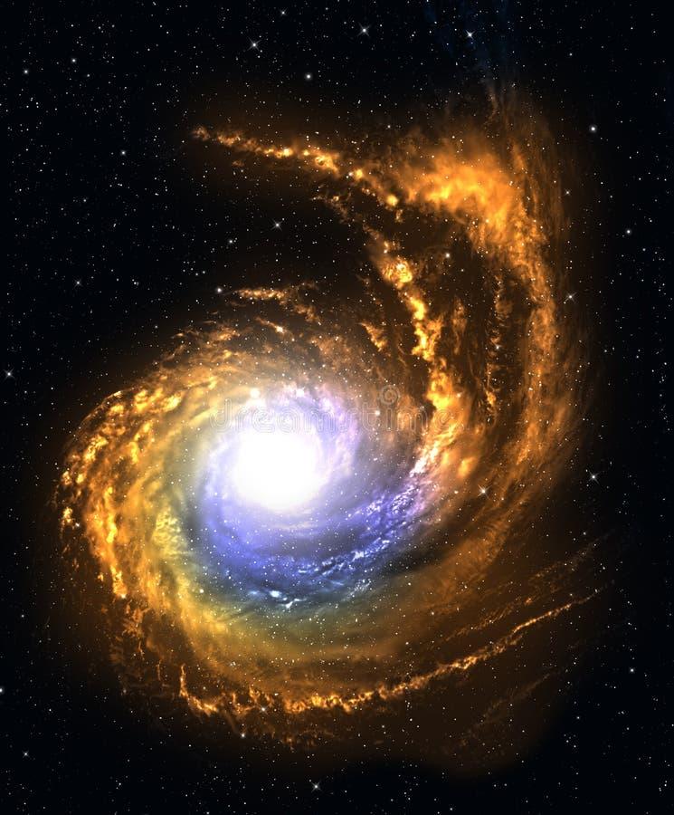 Galaxia espiral en espacio profundo. ilustración del vector