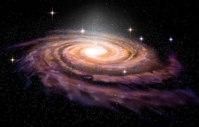 Galaxia espiral en spcae profundos ilustración del vector
