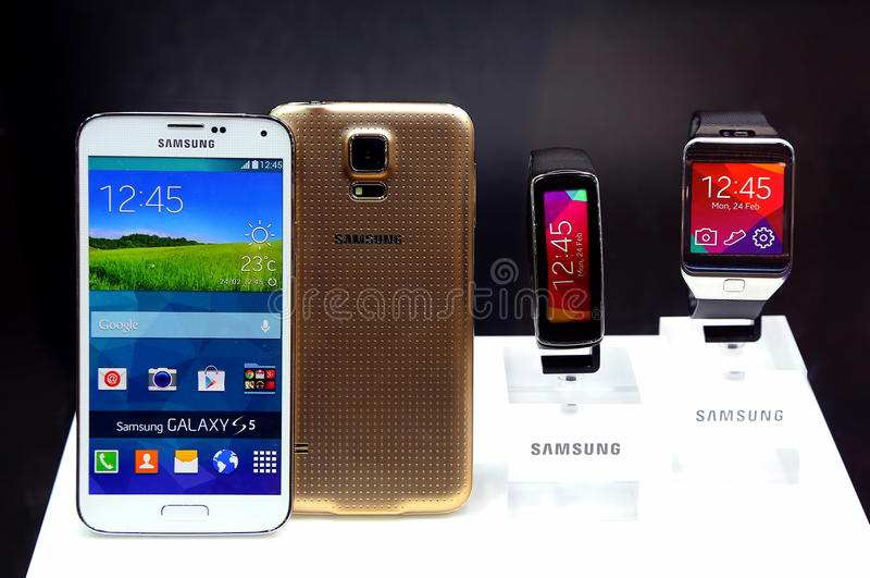 Galaxia s5 de Samsung fotografía de archivo libre de regalías