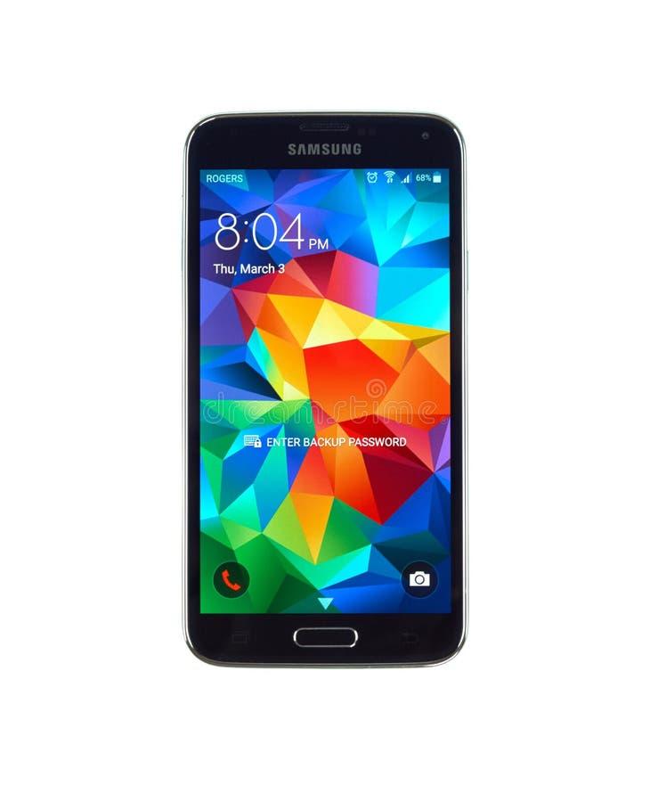 Galaxia S5 de Samsung foto de archivo