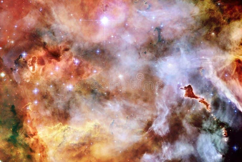 Galaxia, starfield, nebulosas, racimo de estrellas en espacio profundo Arte de la ciencia ficción libre illustration