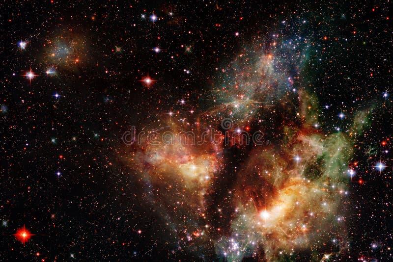 Galaxia, starfield, nebulosas, racimo de estrellas en espacio profundo Arte de la ciencia ficción Elementos de esta imagen equipa ilustración del vector