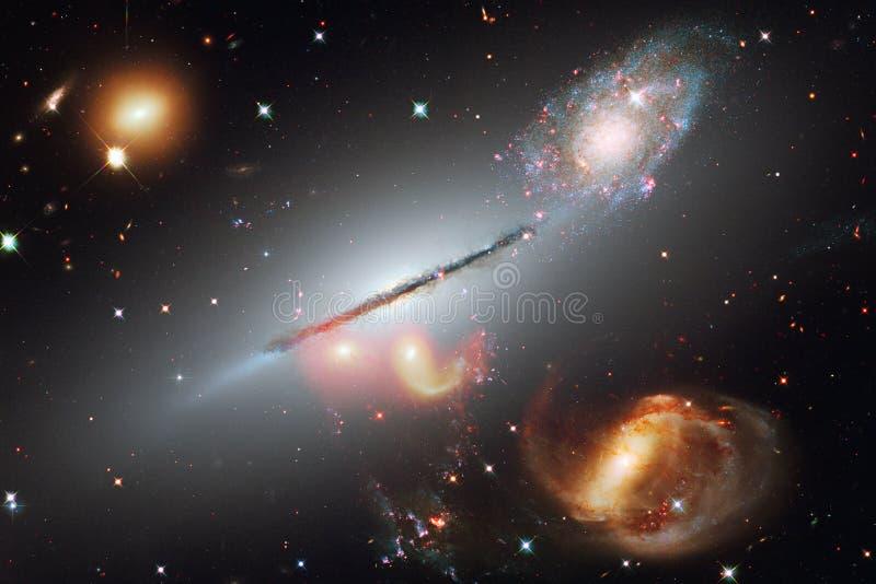 Galaxia, starfield, nebulosas, racimo de estrellas en espacio profundo Arte de la ciencia ficción Elementos de esta imagen equipa stock de ilustración