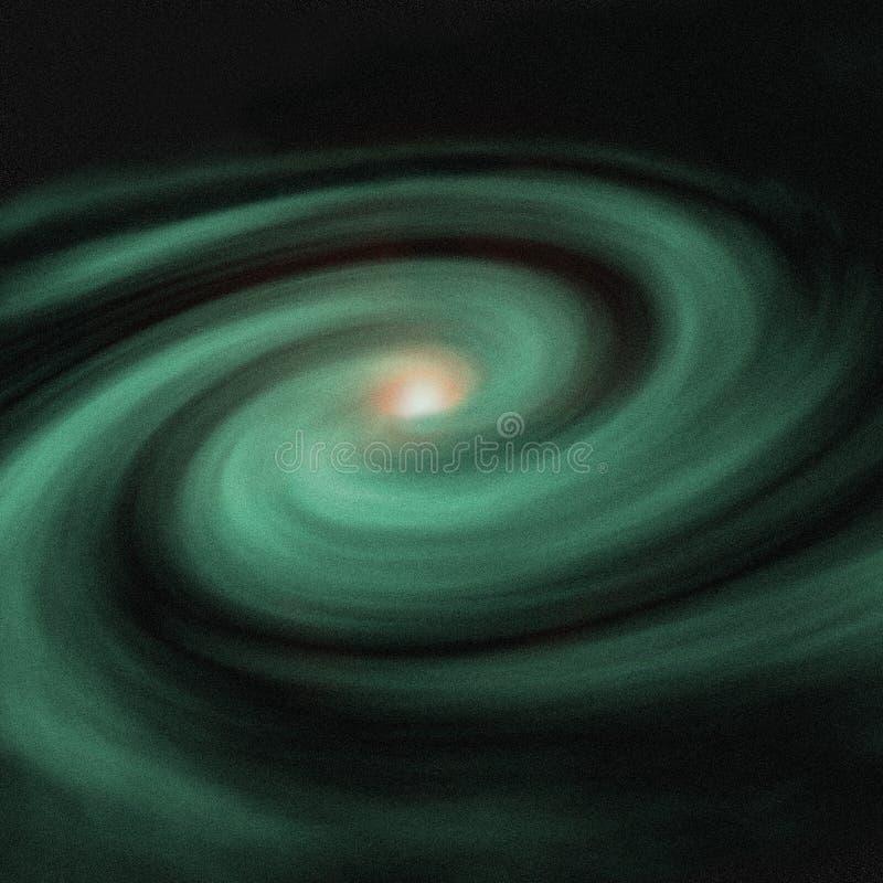 Galaxia verde ilustración del vector