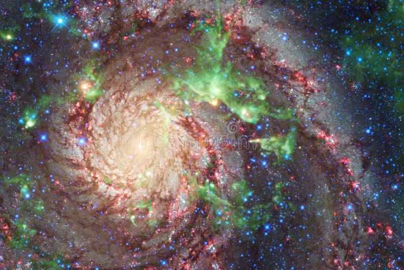 Galaxia y racimo hermosos de estrellas en la noche del espacio libre illustration