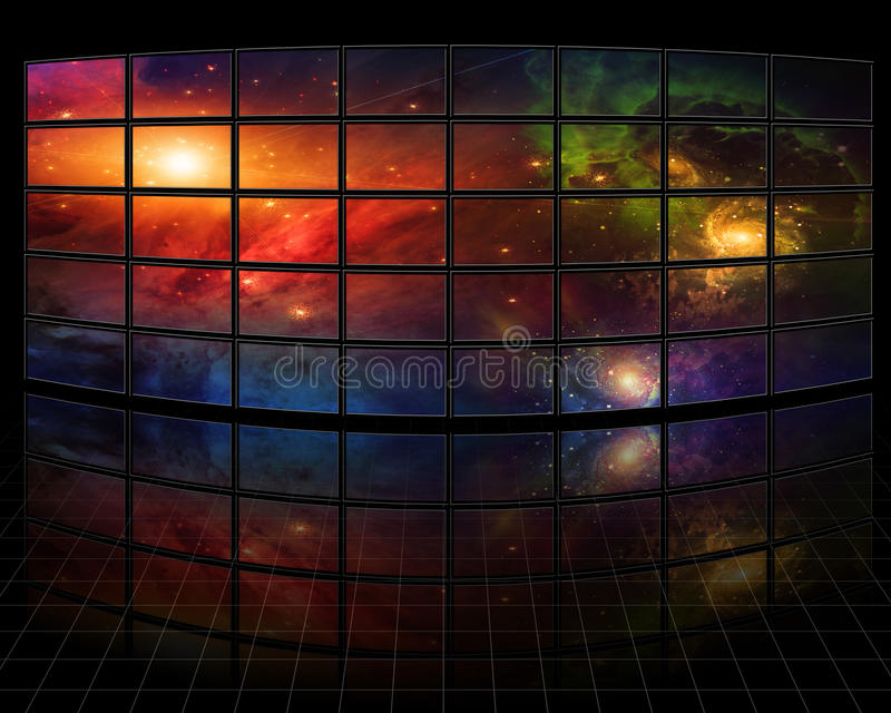 Galaxias stock de ilustración
