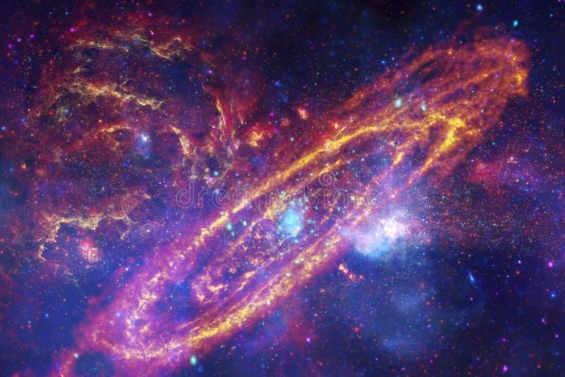 Galaxias, estrellas y nebulosas en imagen impresionante del espacio fotografía de archivo libre de regalías