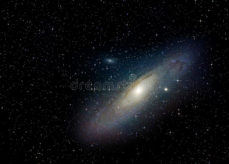 Galaxie d'Andromeda (M31) illustration libre de droits
