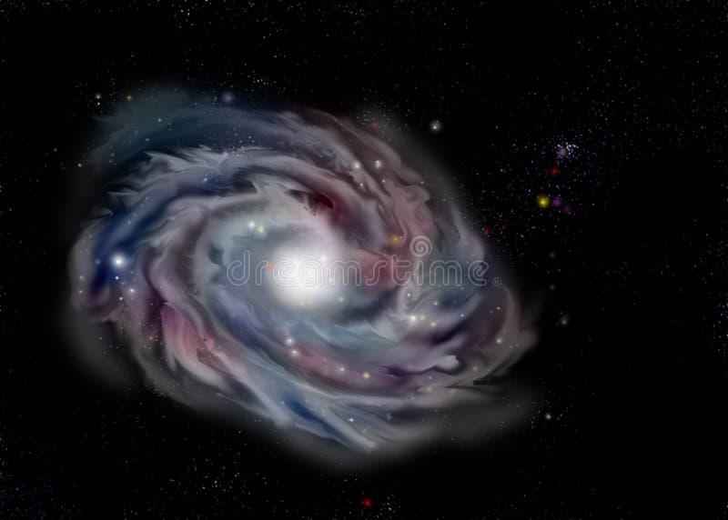 Galaxie d'oeil mauvais photographie stock libre de droits