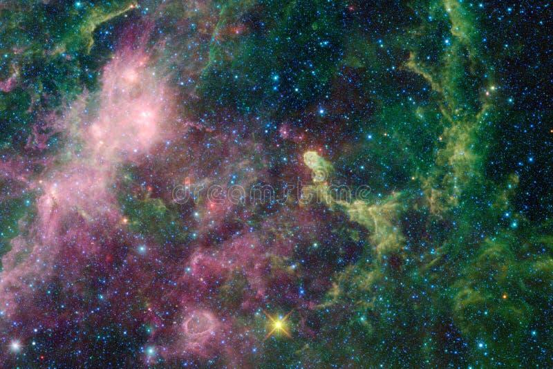 Galaxie dans l'espace extra-atmosphérique, beauté d'univers photographie stock libre de droits