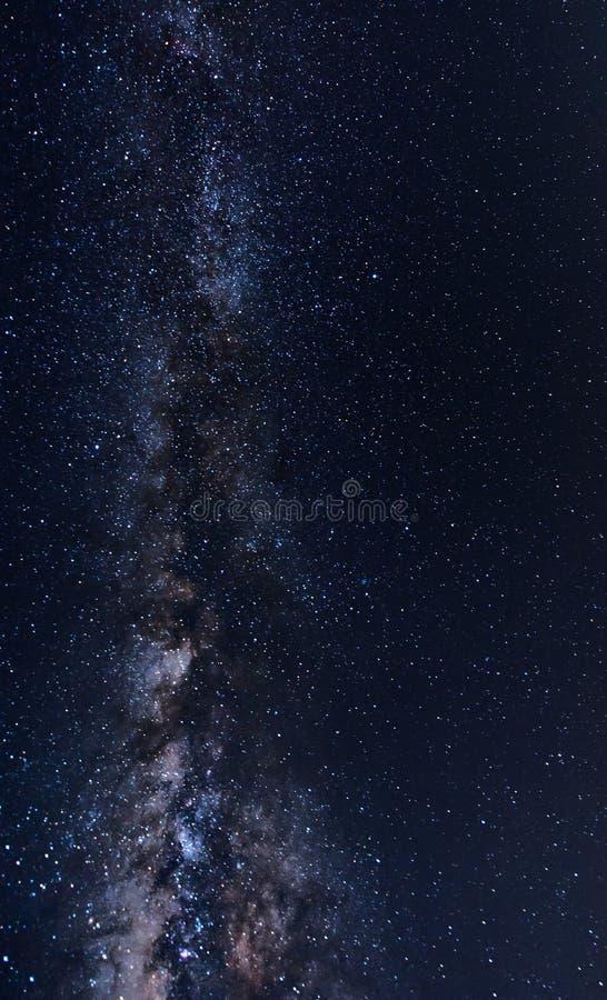 Galaxie dans le ciel photo stock