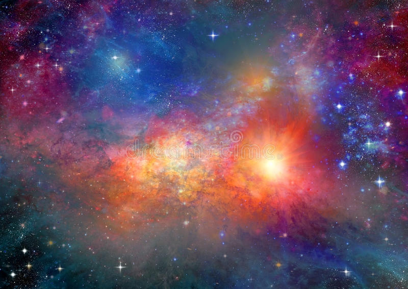 Galaxie dans un espace libre illustration libre de droits