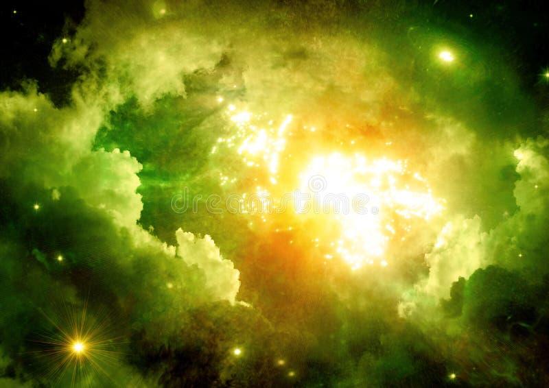 Galaxie dans un espace libre illustration de vecteur