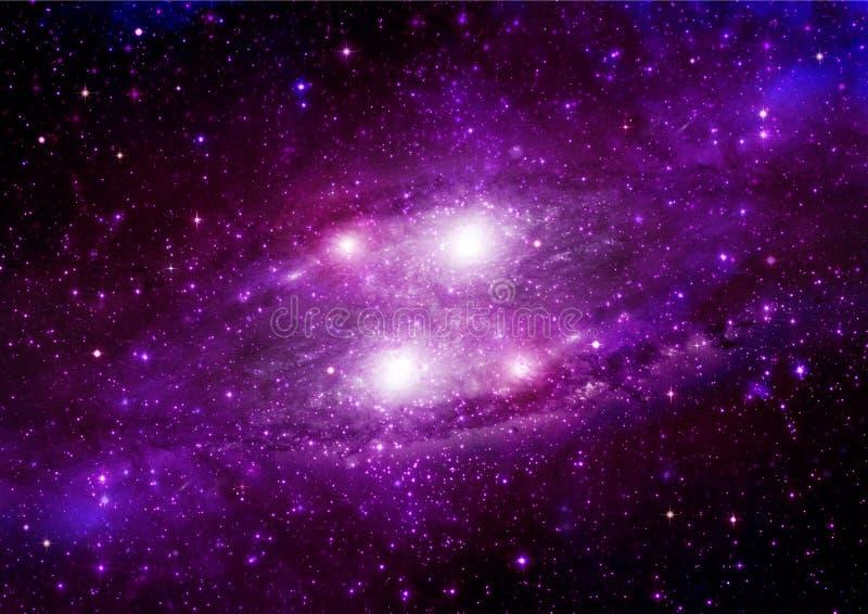 Galaxie dans un espace libre illustration stock