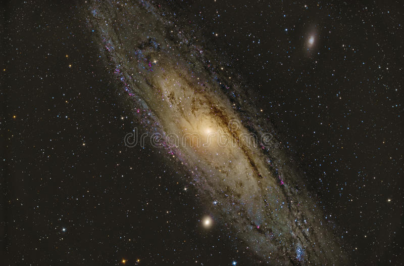 Galaxie de l'Andromeda M31 photo stock