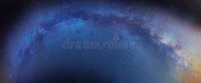 Galaxie de manière de Milkey images libres de droits