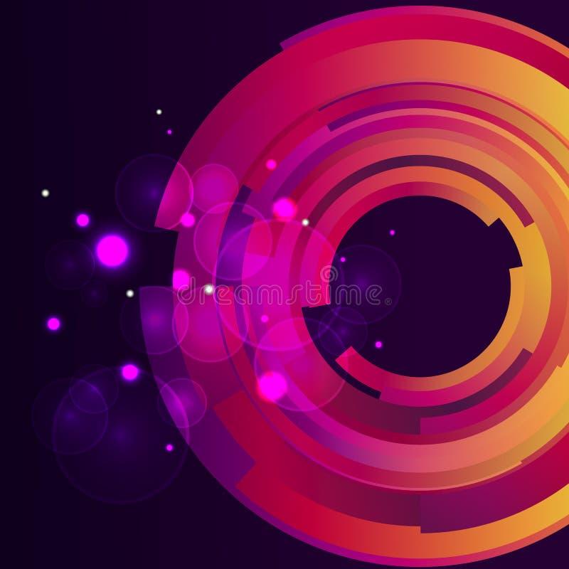 Galaxie digitaler bokeh Hintergrund stock abbildung