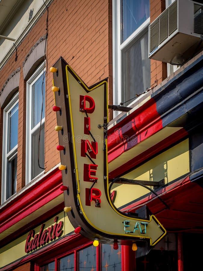 Galaxie Diner imagens de stock royalty free