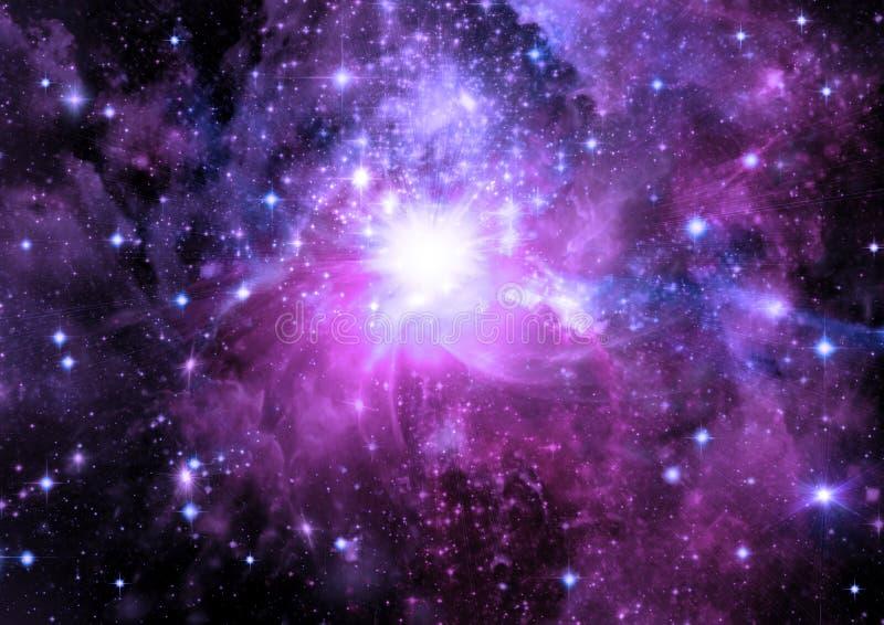 Galaxie in einem freien Platz stock abbildung
