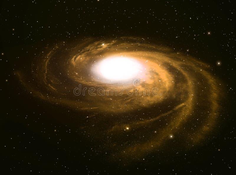 Galaxie en spirale. illustration de vecteur