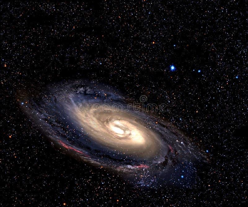 Galaxie en spirale dans l'espace lointain. illustration stock