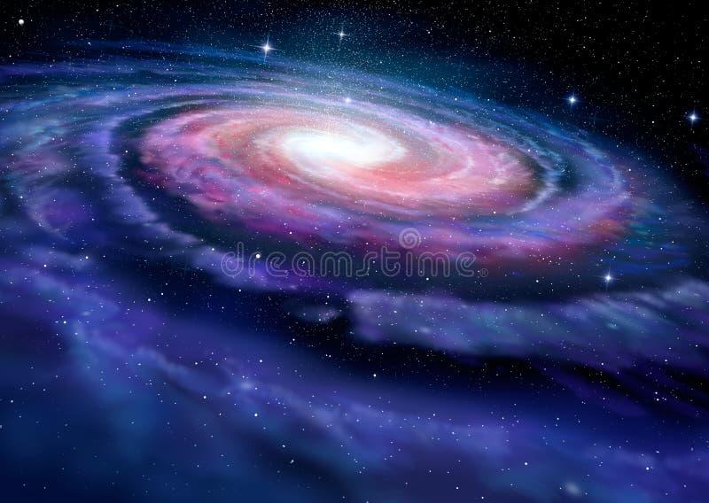 Galaxie en spirale, illustration de manière laiteuse illustration libre de droits